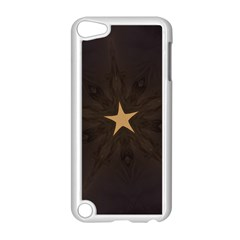 Rustic Elegant Brown Christmas Star Design Apple Ipod Touch 5 Case (white) by yoursparklingshop