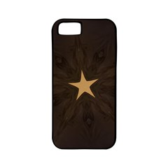 Rustic Elegant Brown Christmas Star Design Apple Iphone 5 Classic Hardshell Case (pc+silicone) by yoursparklingshop