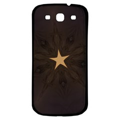 Rustic Elegant Brown Christmas Star Design Samsung Galaxy S3 S Iii Classic Hardshell Back Case by yoursparklingshop