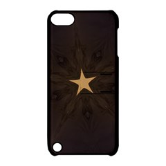 Rustic Elegant Brown Christmas Star Design Apple Ipod Touch 5 Hardshell Case With Stand by yoursparklingshop