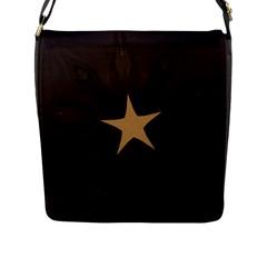Rustic Elegant Brown Christmas Star Design Flap Messenger Bag (l)  by yoursparklingshop
