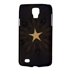 Rustic Elegant Brown Christmas Star Design Galaxy S4 Active by yoursparklingshop
