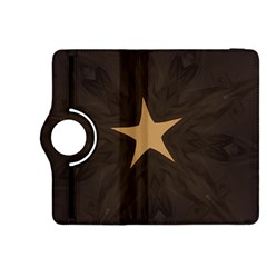 Rustic Elegant Brown Christmas Star Design Kindle Fire Hdx 8 9  Flip 360 Case by yoursparklingshop