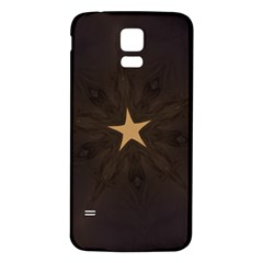 Rustic Elegant Brown Christmas Star Design Samsung Galaxy S5 Back Case (white) by yoursparklingshop