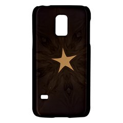 Rustic Elegant Brown Christmas Star Design Galaxy S5 Mini by yoursparklingshop