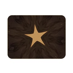 Rustic Elegant Brown Christmas Star Design Double Sided Flano Blanket (mini)  by yoursparklingshop