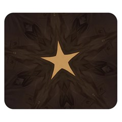 Rustic Elegant Brown Christmas Star Design Double Sided Flano Blanket (small)  by yoursparklingshop