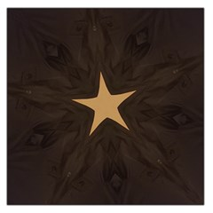 Rustic Elegant Brown Christmas Star Design Large Satin Scarf (square) by yoursparklingshop