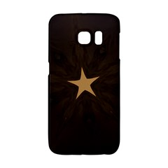 Rustic Elegant Brown Christmas Star Design Galaxy S6 Edge by yoursparklingshop
