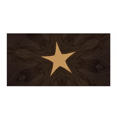 Rustic Elegant Brown Christmas Star Design Satin Wrap by yoursparklingshop