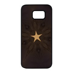 Rustic Elegant Brown Christmas Star Design Samsung Galaxy S7 Edge Black Seamless Case by yoursparklingshop