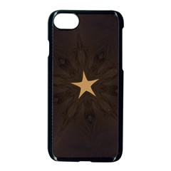 Rustic Elegant Brown Christmas Star Design Apple Iphone 7 Seamless Case (black) by yoursparklingshop