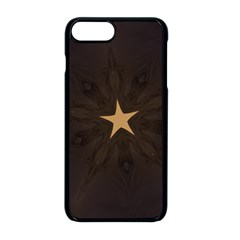 Rustic Elegant Brown Christmas Star Design Apple Iphone 8 Plus Seamless Case (black) by yoursparklingshop