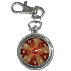 Red Star Ribbon Elegant Kaleidoscopic Design Key Chain Watches by yoursparklingshop