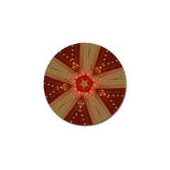 Red Star Ribbon Elegant Kaleidoscopic Design Golf Ball Marker by yoursparklingshop
