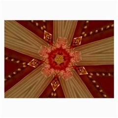 Red Star Ribbon Elegant Kaleidoscopic Design Large Glasses Cloth by yoursparklingshop