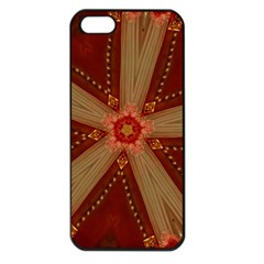 Red Star Ribbon Elegant Kaleidoscopic Design Apple Iphone 5 Seamless Case (black) by yoursparklingshop