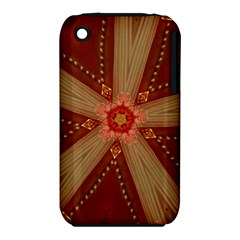 Red Star Ribbon Elegant Kaleidoscopic Design Iphone 3s/3gs by yoursparklingshop