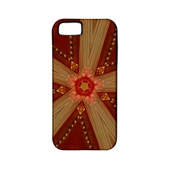 Red Star Ribbon Elegant Kaleidoscopic Design Apple Iphone 5 Classic Hardshell Case (pc+silicone) by yoursparklingshop