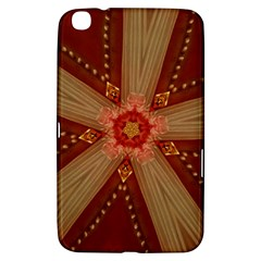 Red Star Ribbon Elegant Kaleidoscopic Design Samsung Galaxy Tab 3 (8 ) T3100 Hardshell Case  by yoursparklingshop