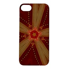 Red Star Ribbon Elegant Kaleidoscopic Design Apple Iphone 5s/ Se Hardshell Case by yoursparklingshop