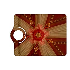 Red Star Ribbon Elegant Kaleidoscopic Design Kindle Fire Hd (2013) Flip 360 Case by yoursparklingshop
