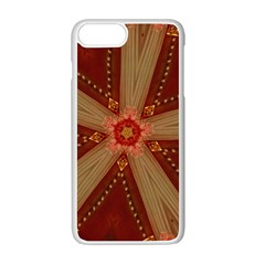 Red Star Ribbon Elegant Kaleidoscopic Design Apple Iphone 7 Plus Seamless Case (white) by yoursparklingshop