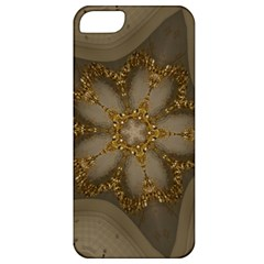 Golden Flower Star Floral Kaleidoscopic Design Apple Iphone 5 Classic Hardshell Case by yoursparklingshop