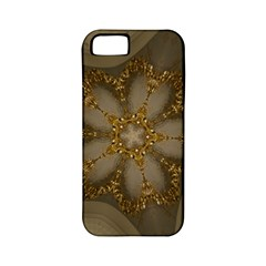 Golden Flower Star Floral Kaleidoscopic Design Apple Iphone 5 Classic Hardshell Case (pc+silicone) by yoursparklingshop