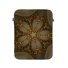 Golden Flower Star Floral Kaleidoscopic Design Apple Ipad 2/3/4 Protective Soft Cases by yoursparklingshop