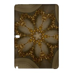 Golden Flower Star Floral Kaleidoscopic Design Samsung Galaxy Tab Pro 10 1 Hardshell Case by yoursparklingshop