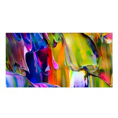 Abstract Acryl Art Satin Shawl by tarastyle