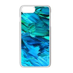Abstract Acryl Art Apple Iphone 8 Plus Seamless Case (white)