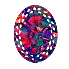 Abstract Acryl Art Ornament (oval Filigree) by tarastyle