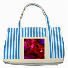 Abstract Acryl Art Striped Blue Tote Bag by tarastyle