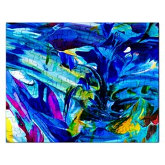 Abstract Acryl Art Rectangular Jigsaw Puzzl by tarastyle