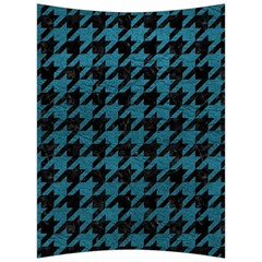 Houndstooth1 Black Marble & Teal Leather Back Support Cushion by trendistuff