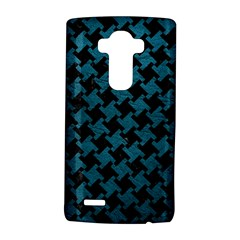 Houndstooth2 Black Marble & Teal Leather Lg G4 Hardshell Case