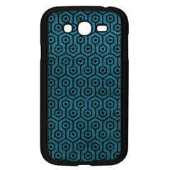 Hexagon1 Black Marble & Teal Leather Samsung Galaxy Grand Duos I9082 Case (black) by trendistuff