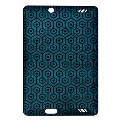Hexagon1 Black Marble & Teal Leather Amazon Kindle Fire Hd (2013) Hardshell Case by trendistuff