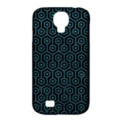 Hexagon1 Black Marble & Teal Leather (r) Samsung Galaxy S4 Classic Hardshell Case (pc+silicone) by trendistuff