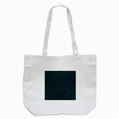 Hexagon1 Black Marble & Teal Leather (r) Tote Bag (white) by trendistuff