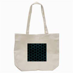 Hexagon2 Black Marble & Teal Leather (r) Tote Bag (cream) by trendistuff