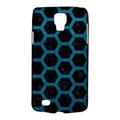 Hexagon2 Black Marble & Teal Leather (r) Galaxy S4 Active by trendistuff