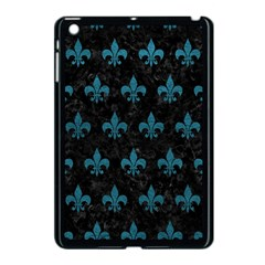 Royal1 Black Marble & Teal Leather Apple Ipad Mini Case (black) by trendistuff