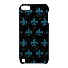 Royal1 Black Marble & Teal Leather Apple Ipod Touch 5 Hardshell Case With Stand by trendistuff