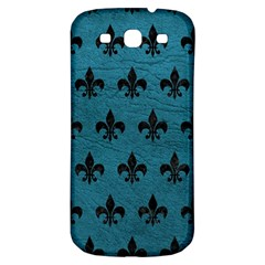 Royal1 Black Marble & Teal Leather (r) Samsung Galaxy S3 S Iii Classic Hardshell Back Case by trendistuff
