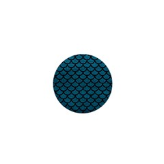 Scales1 Black Marble & Teal Leather 1  Mini Buttons by trendistuff