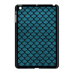 Scales1 Black Marble & Teal Leather Apple Ipad Mini Case (black) by trendistuff
