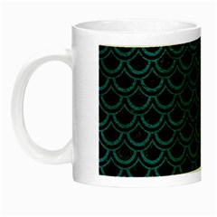 Scales2 Black Marble & Teal Leather (r) Night Luminous Mugs by trendistuff